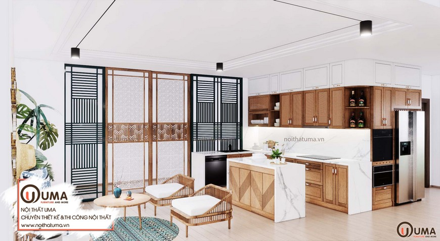 Thiết kế nội thất phong cách Rustic