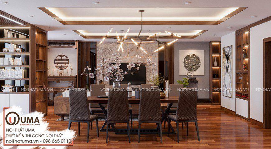 Thiết kế nội thất biệt thự anh Huy -Ninh Bình, , Gỗ óc chó, Phong cách hiện đại, sofa gỗ, Nội Thất Biệt thự