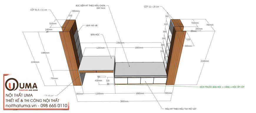 Thiết kế nội thất chung cư anh Trường tại Đông Anh