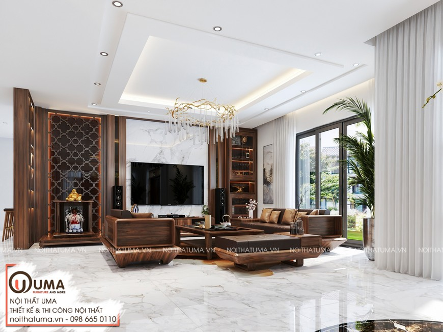 Thiết kế nội thất biệt thự UMA