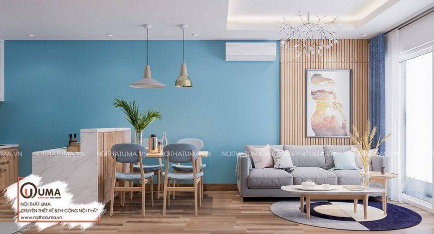 Thiết kế nội thất chung cư có 55m2
