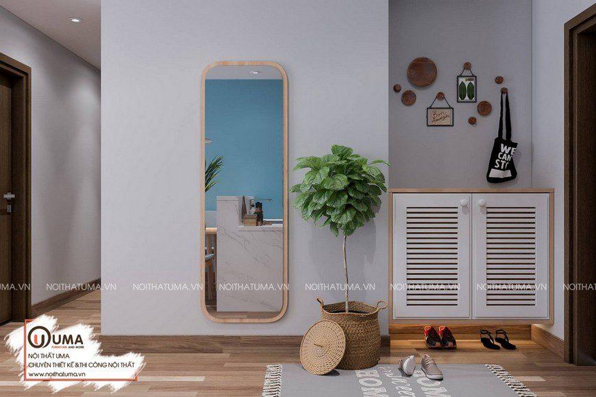 Thiết kế nội thất chung cư HH Linh Đàm - Anh An, , Melamin, Phong cách hiện đại, Thiết Kế Nội thất Chung cư