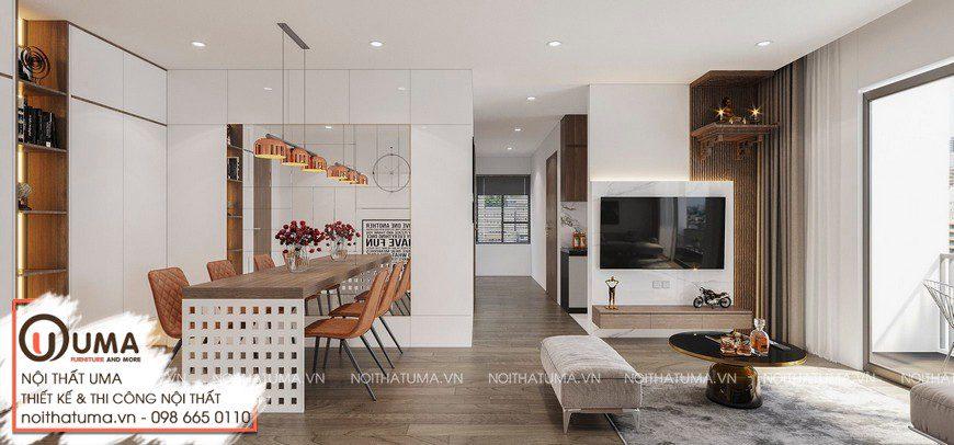 Thiết kế nội thất căn hộ Imperia Sky Garden - Anh Huy, Thiết kế nội thất căn hộ Imperia Sky Garden, Gỗ óc chó, Phong cách hiện đại, Thiết Kế Nội thất Chung cư