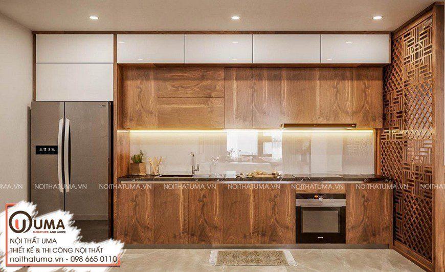 Thiết kế tủ bếp Nattifi – UNA02 kiểu dáng hình chữ I