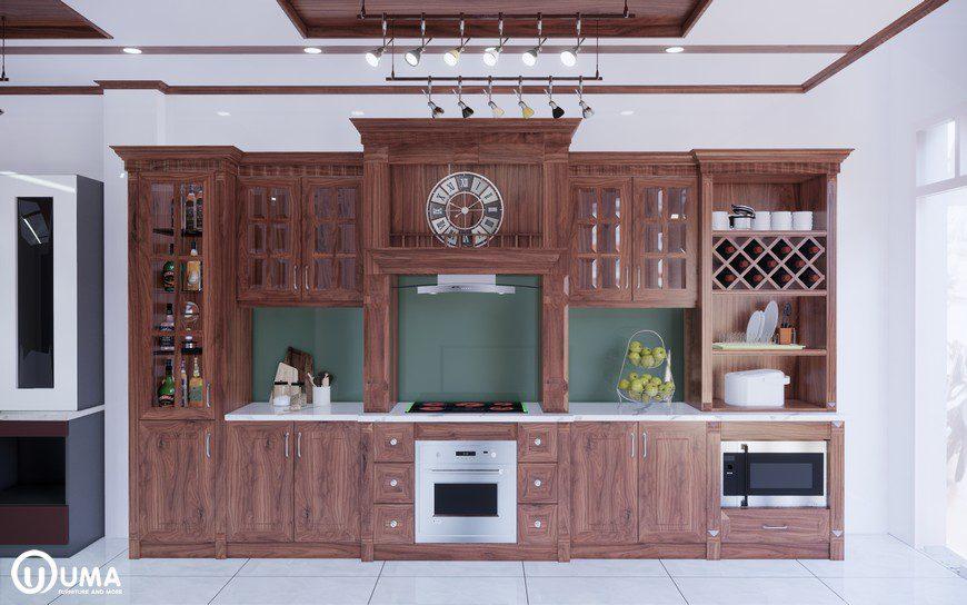 Tủ bếp gỗ là vật dụng quan trọng không thể thiếu trong các căn bếp của gia đình Việt