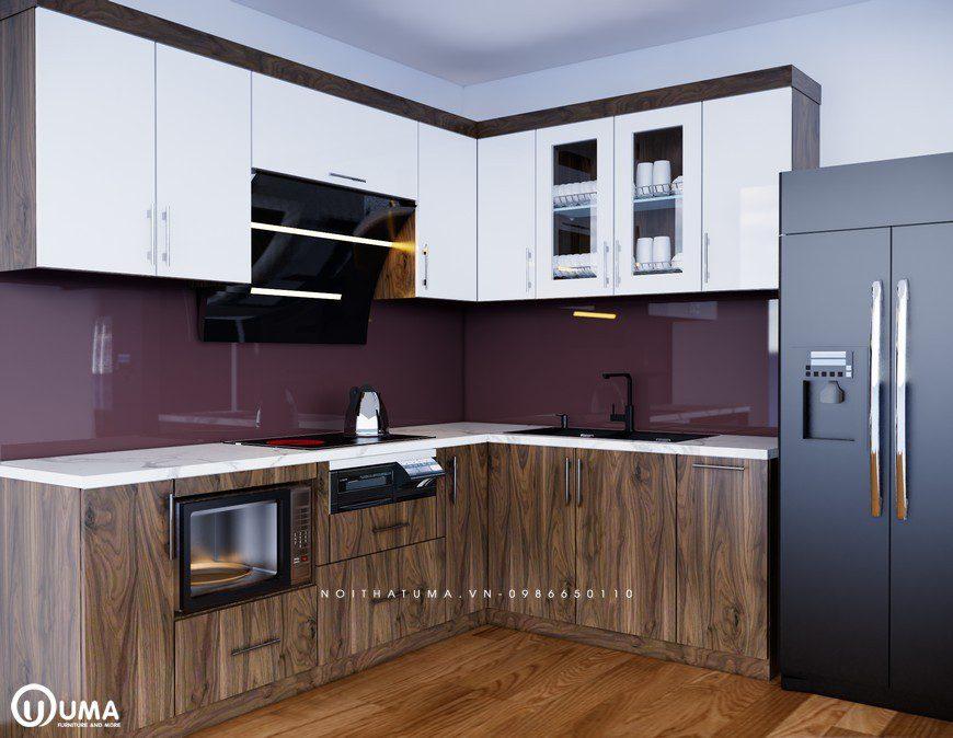 Tủ bếp Acrylic – UAC 21, Tủ bếp Acrylic, ,