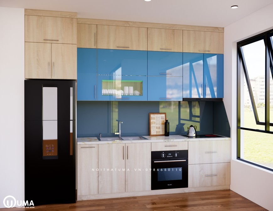 Tủ bếp Melamine - UML 03, Tủ bếp Melamine, ,