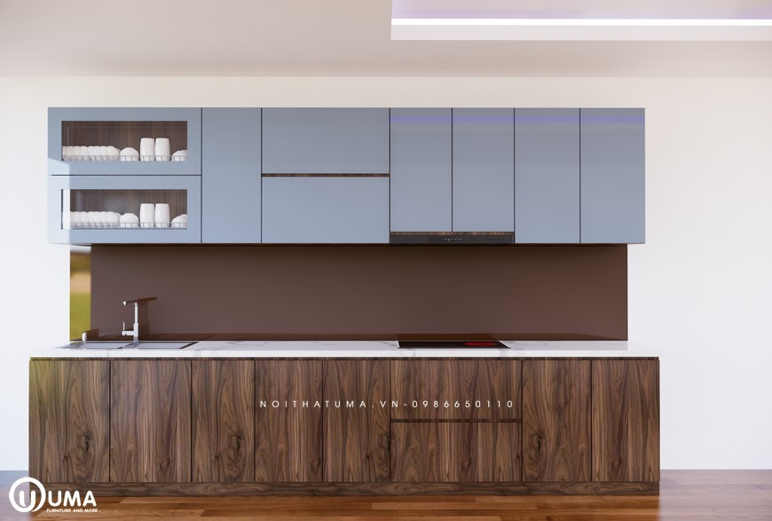 Tủ bếp Melamine - UML 04, tủ bếp Melamine, ,