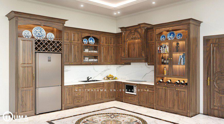 Tủ bếp Tân, Cổ điển - UTD 01, Tủ bếp Tân, Tủ bếp tân cổ điển, Tủ bếp tân cổ điển