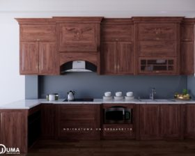 Tủ bếp gỗ Gõ đỏ – UGG 08