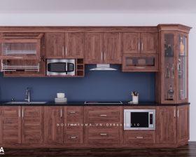 Tủ bếp gỗ Gõ đỏ – UGG 11