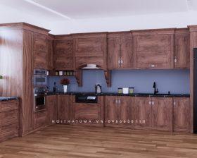 Tủ bếp gỗ Gõ đỏ – UGG 14