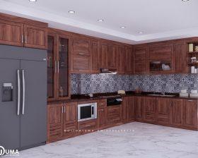 Tủ bếp gỗ Gõ Đỏ – UGG 05