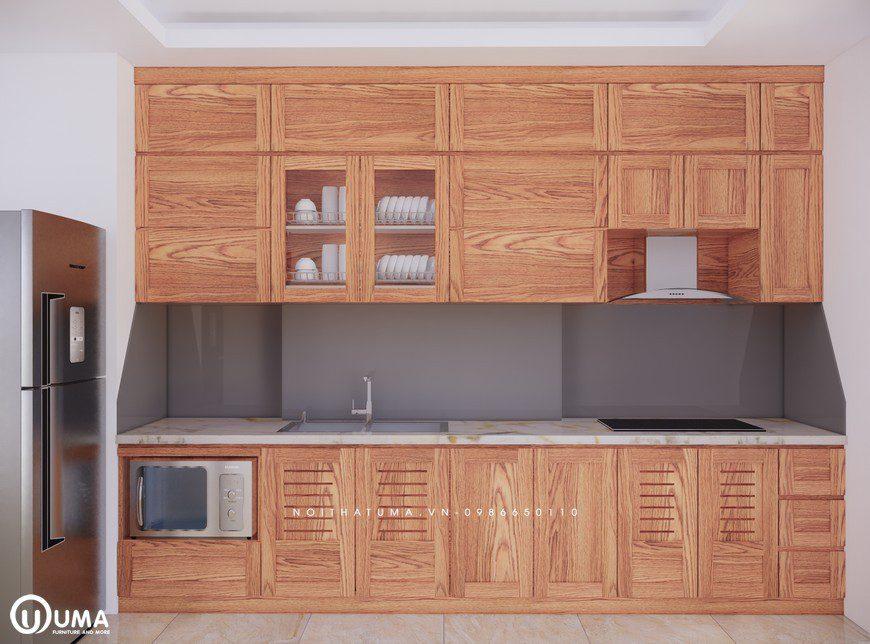Tủ bếp gỗ Sồi Mỹ - USM 07, tủ bếp gỗ Sồi Mỹ, ,