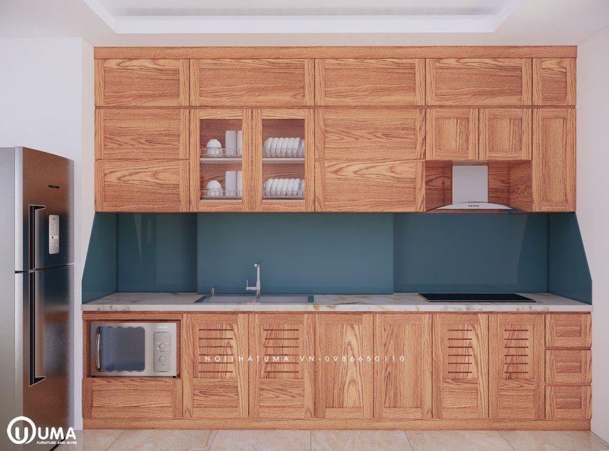 Tủ bếp gỗ Sồi Mỹ - USM 08, Tủ bếp gỗ Sồi Mỹ, ,