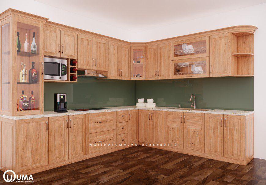 Tủ bếp gỗ Sồi Mỹ - USM 11, tủ bếp gỗ Sồi Mỹ, ,