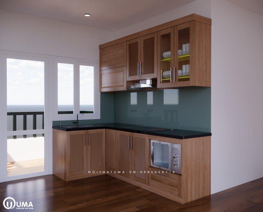 Tủ bếp gỗ Sồi Mỹ - USM 12 - Nội Thất UMA