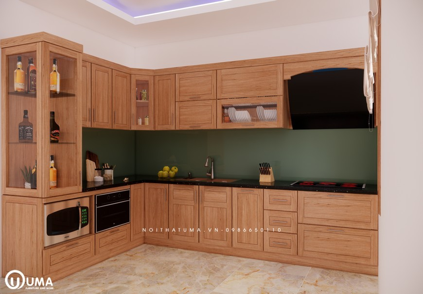 Tủ bếp gỗ Sồi Mỹ - USM 16, tủ bếp gỗ Sồi Mỹ, ,