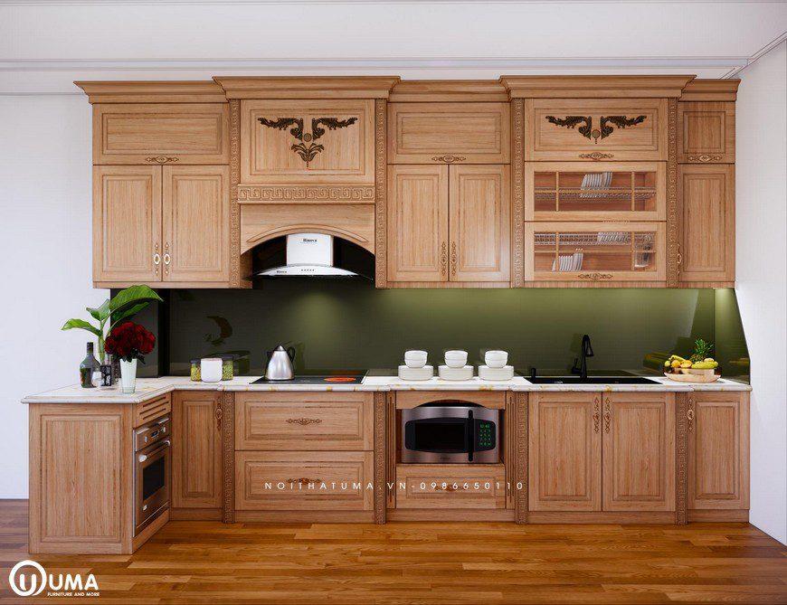 Tủ bếp gỗ Sồi Mỹ - USM 25, tủ bếp gỗ Sồi Mỹ, ,