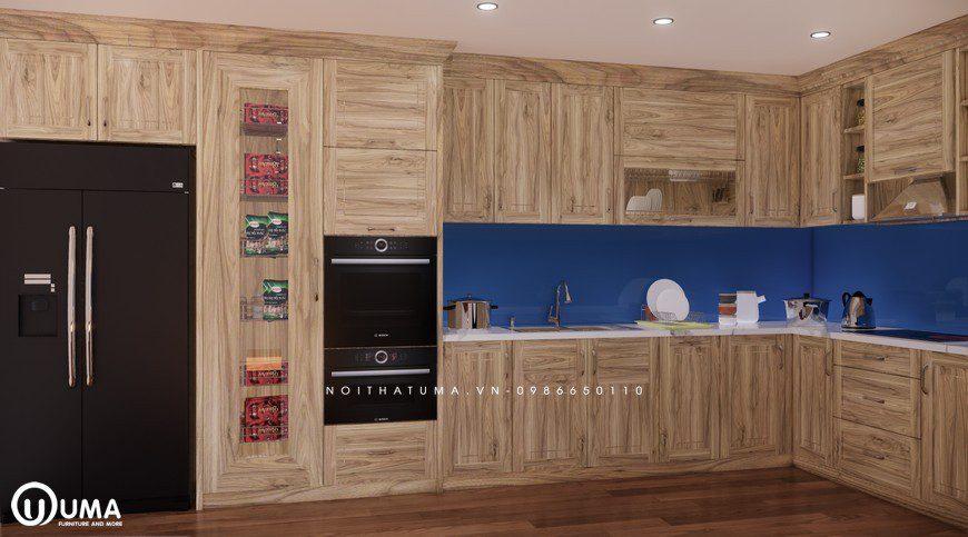 Tủ bếp gỗ Sồi Nga - USN 06, Tủ bếp gỗ Sồi Nga, ,