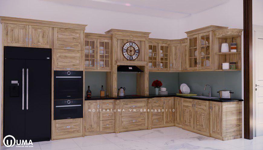 Tủ bếp gỗ Sồi Nga - USN 10, Tủ bếp gỗ Sồi Nga, ,