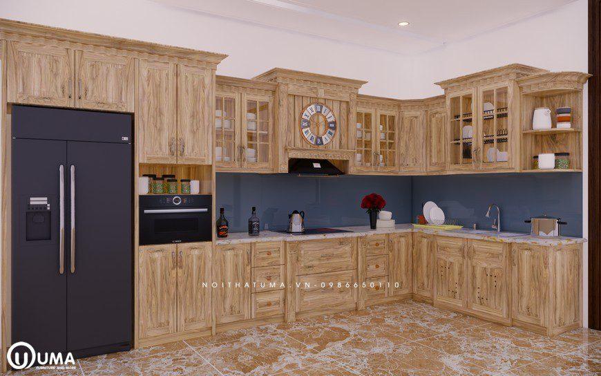 Tủ bếp gỗ Sồi Nga - USN 13, Tủ bếp gỗ Sồi Nga, ,