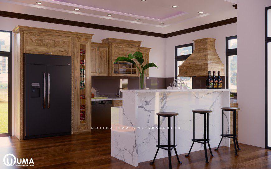 Tủ bếp gỗ Sồi Nga - USN 03, tủ bếp gỗ Sồi Nga, ,