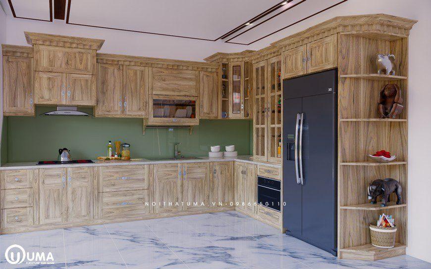 Tủ bếp gỗ Sồi Nga - USN 15, Tủ bếp gỗ Sồi Nga, ,