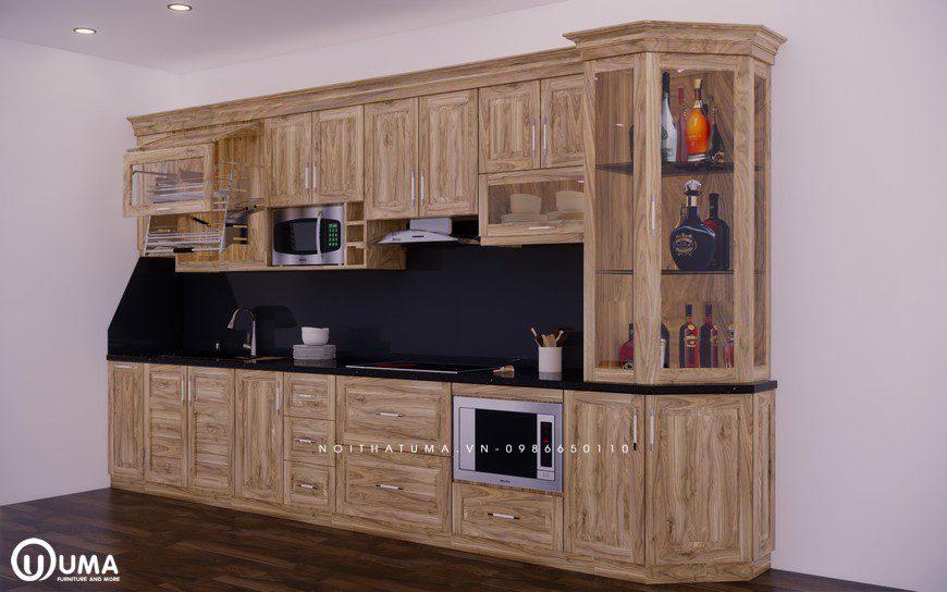 Mẫu tủ bếp gỗ phù hợp với người tuổi Quý Tỵ Nội thất do UMA thiết kế