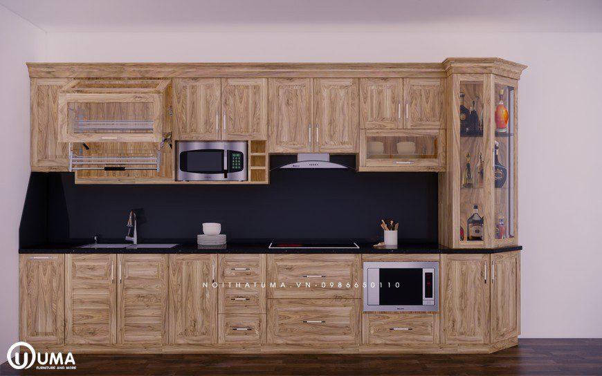 Tủ bếp gỗ Sồi Nga - USN 16 - Tủ bếp gỗ Sồi Nga