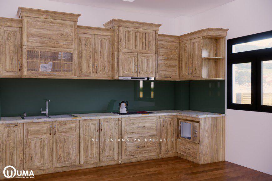 Tủ bếp gỗ Sồi Nga - USN 18, tủ bếp gỗ Sồi Nga, ,