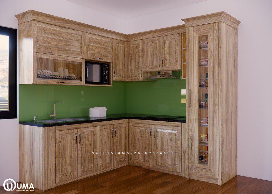 Tủ bếp gỗ Sồi Nga - USN 19, tủ bếp gỗ Sồi Nga, ,