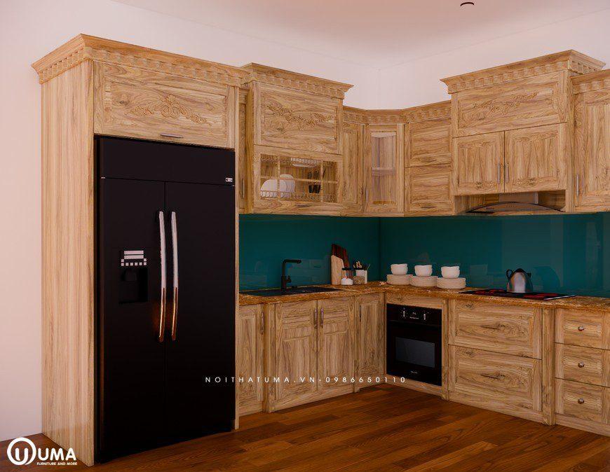 Tủ bếp gỗ Sồi Nga - USN 27, tủ bếp gỗ Sồi Nga, ,
