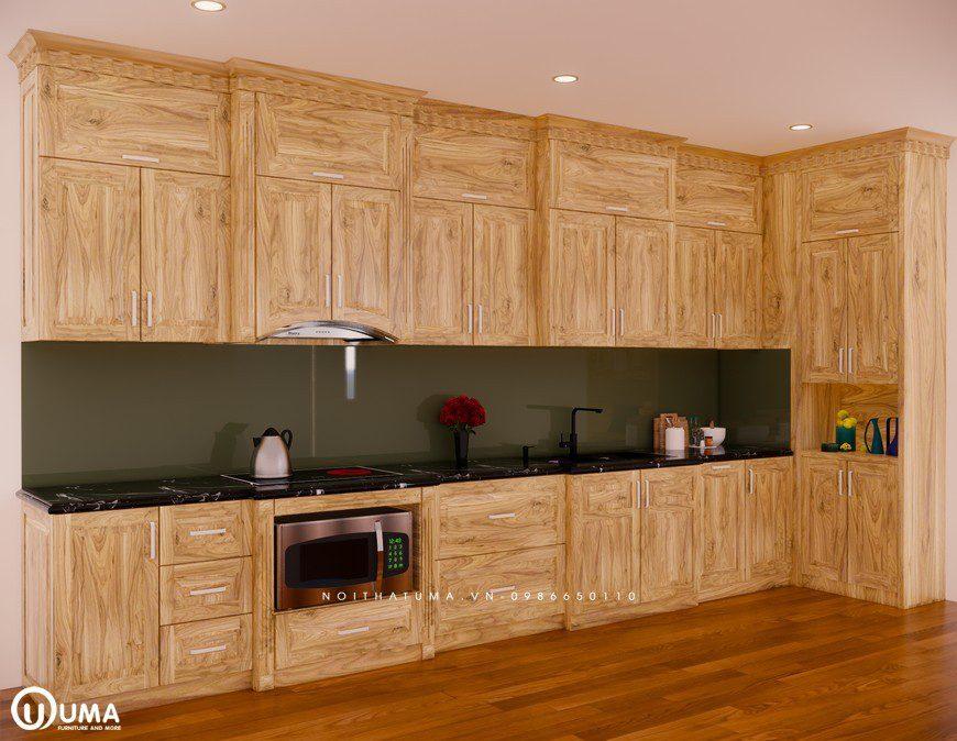 Tủ bếp gỗ Sồi Nga - USN 28, Tủ bếp gỗ Sồi Nga, ,