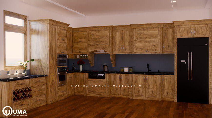 Tủ bếp gỗ Sồi Nga - USN 29, Tủ bếp gỗ Sồi Nga, ,