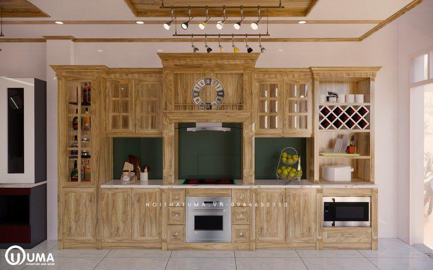 Tủ bếp gỗ Sồi Nga - USN 02, tủ bếp gỗ Sồi Nga, ,