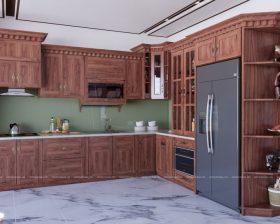 Tủ bếp gỗ Xoan Đào – UXD 14