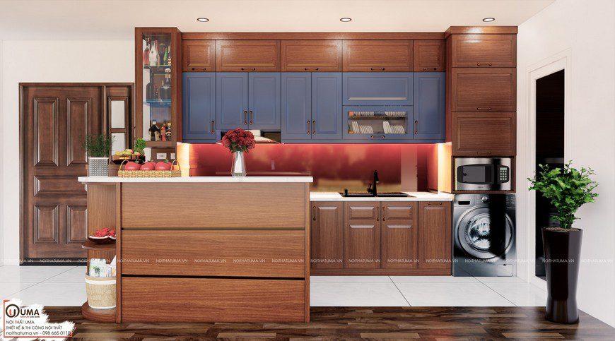 Tủ bếp gỗ Xoan Đào – UXD 04