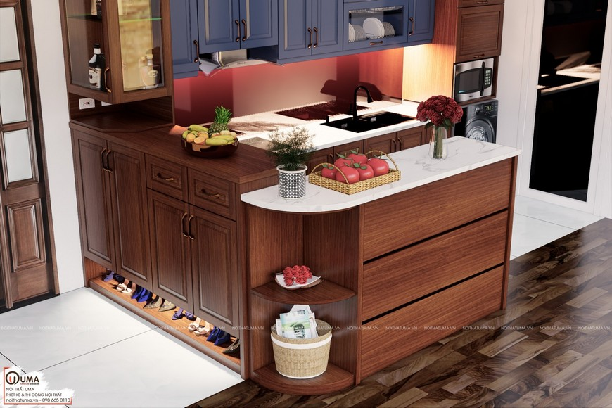Tủ bếp gỗ Xoan Đào – UXD 05