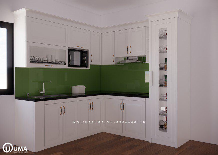 Tủ bếp gỗ Sồi Nga ST - UNT 15, Tủ bếp gỗ Sồi Nga, ,