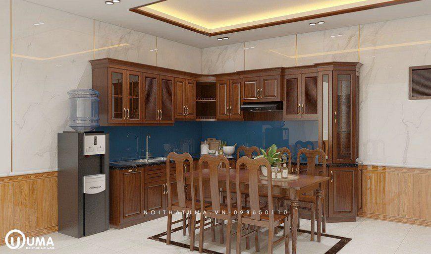 Mẫu Tủ bếp gỗ Xoan Đào – UXD 07