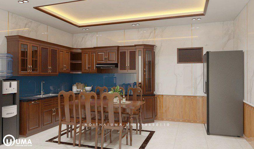 Tủ bếp gỗ Xoan Đào – UXD 07, Tủ bếp gỗ Xoan Đào, ,