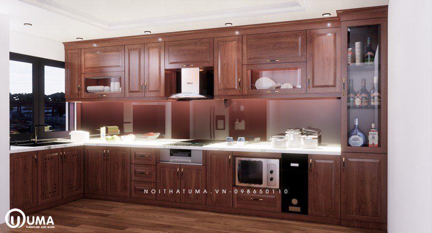 Tủ bếp gỗ Xoan Đào – UXD 09