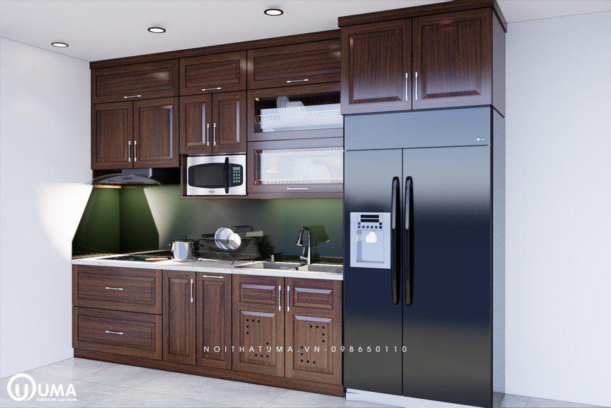 Tủ bếp gỗ Xoan Đào – UXD 08