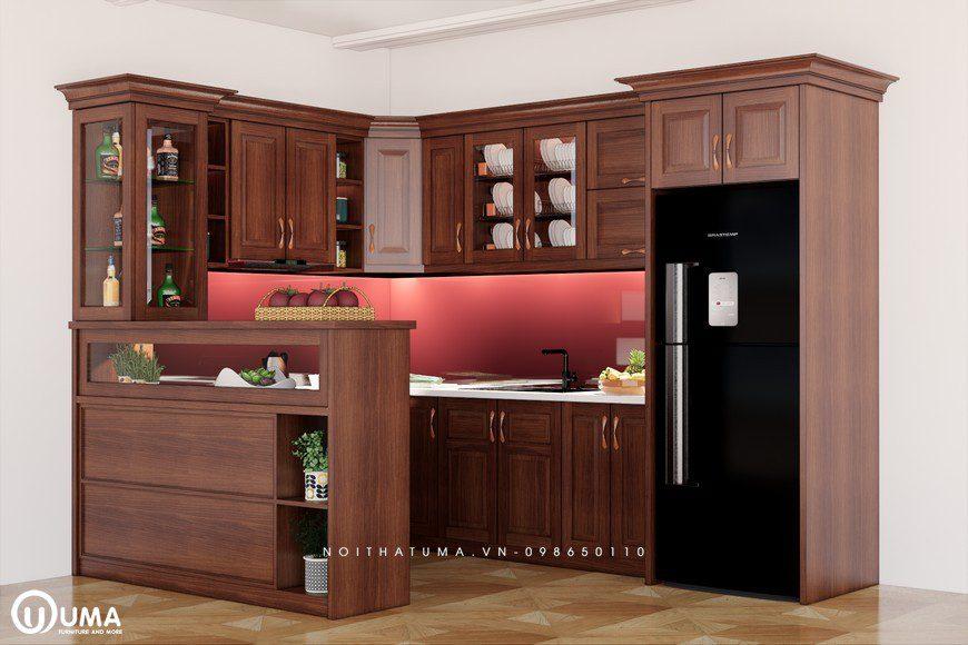 Tủ bếp gỗ Xoan Đào – UXD 11