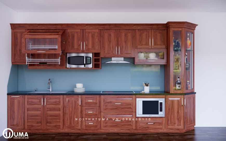 Tủ bếp gỗ Xoan Đào – UXD 17