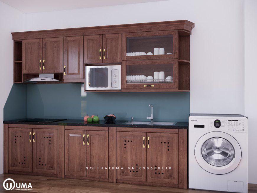 Tủ bếp gỗ Xoan Đào – UXD 02