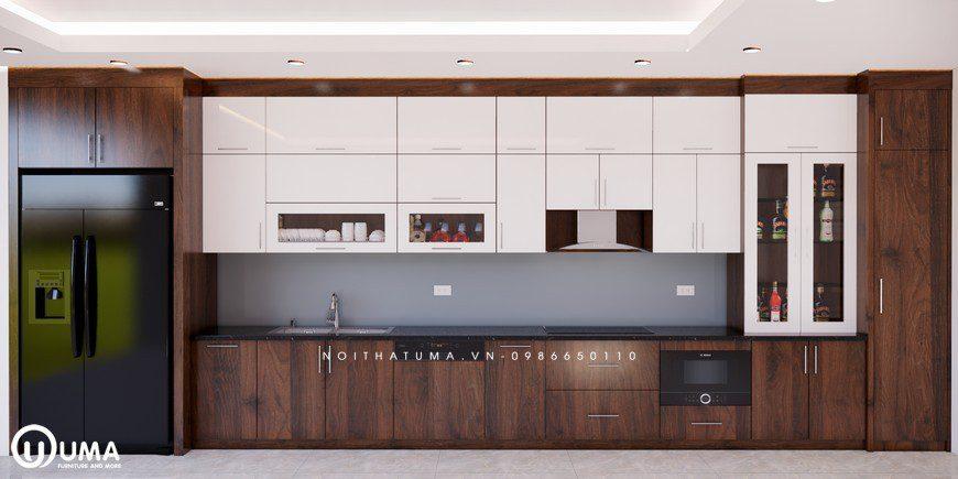 Tủ bếp Laminate chất liệu nâng tầm căn bếp nhà bạn