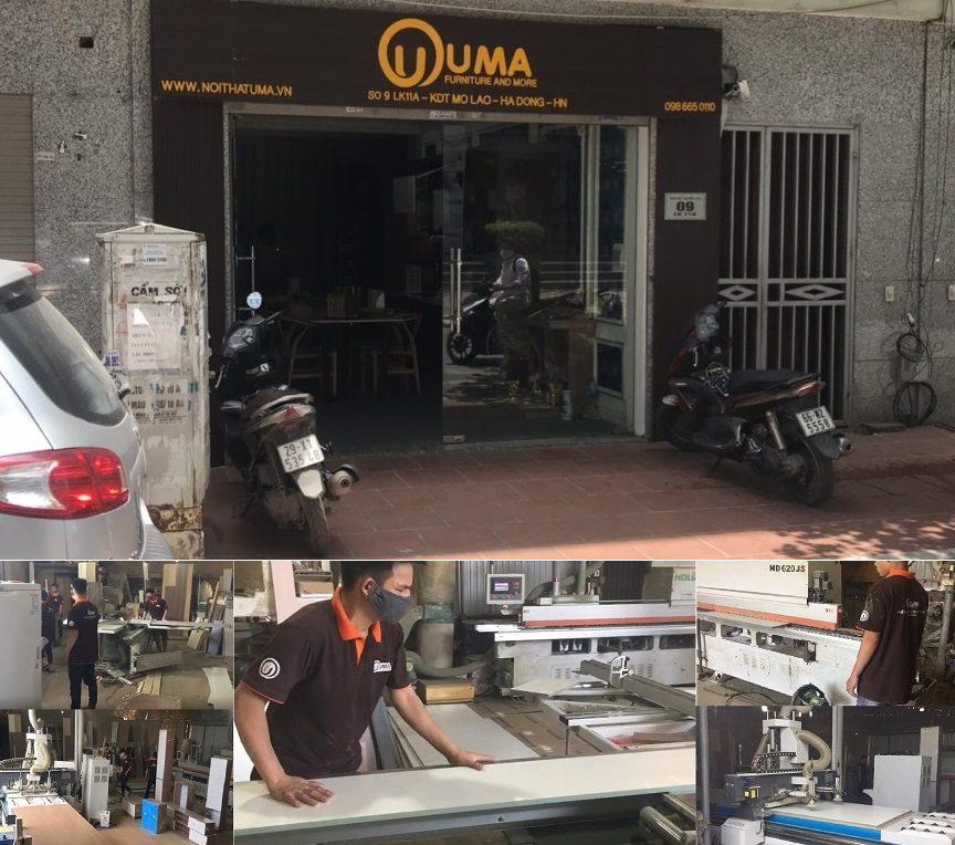 Hình ảnh showroom và xưởng sản xuất của Nội Thất UMA