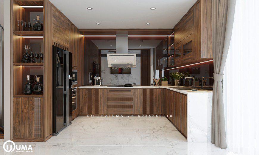 Mẫu tủ bếp UMA thiết kế hợp với tuổi Ất Mùi - 2015